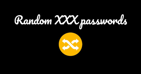 xxx passwords